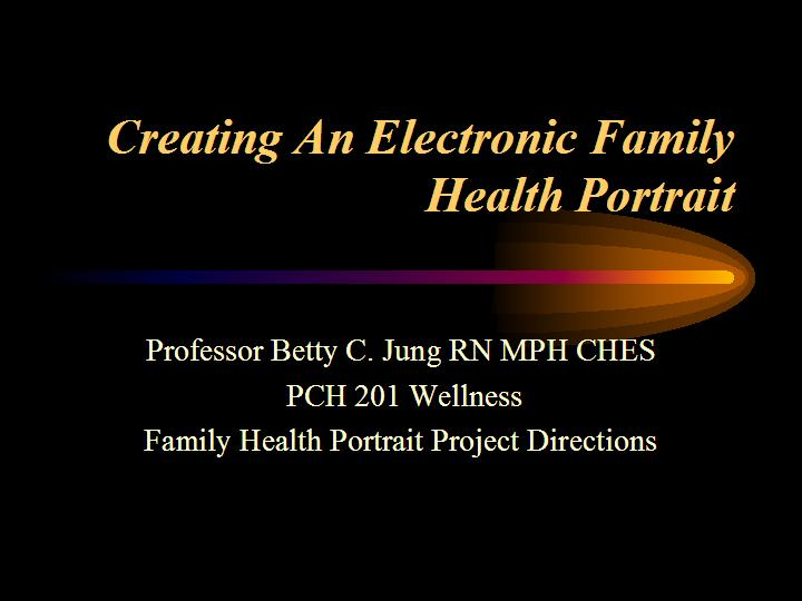 Family Health Portrait Presentation