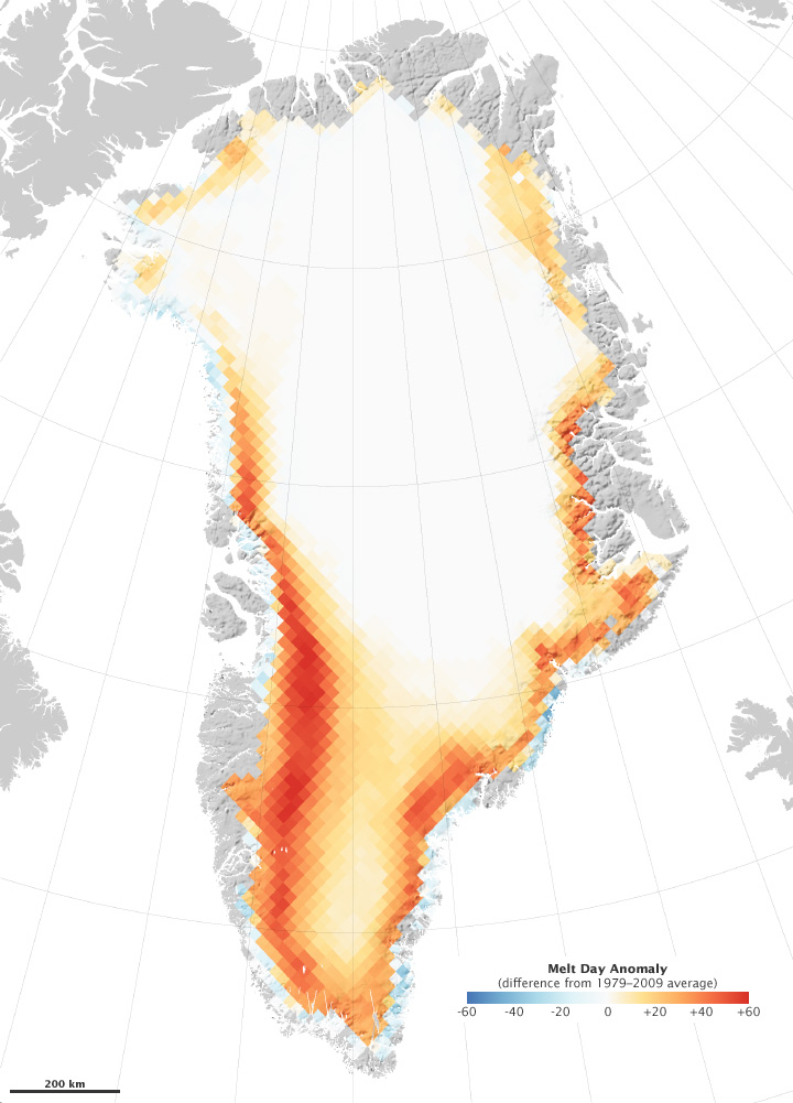 NASA - What happened to Greenland in 2010