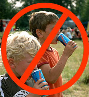 No Energy Drinks for Kids and Teens