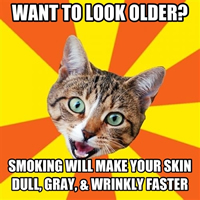 Tobacco effects on aging