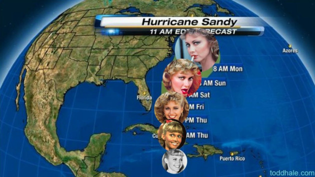 Hurricane Sandy, from Grease?