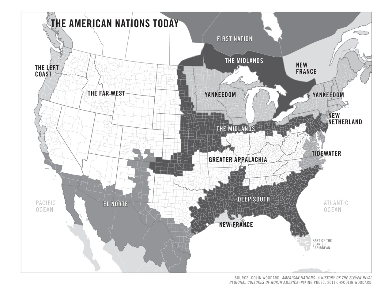Multicultural Map of the US