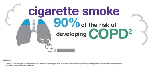 COPD is caused by smoking