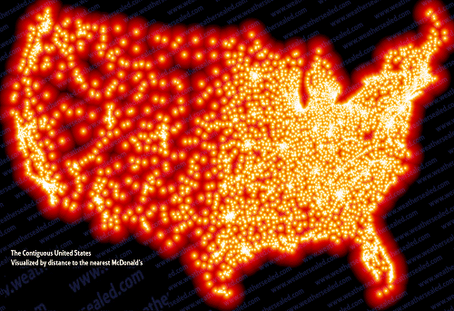 US Map of McDonalds