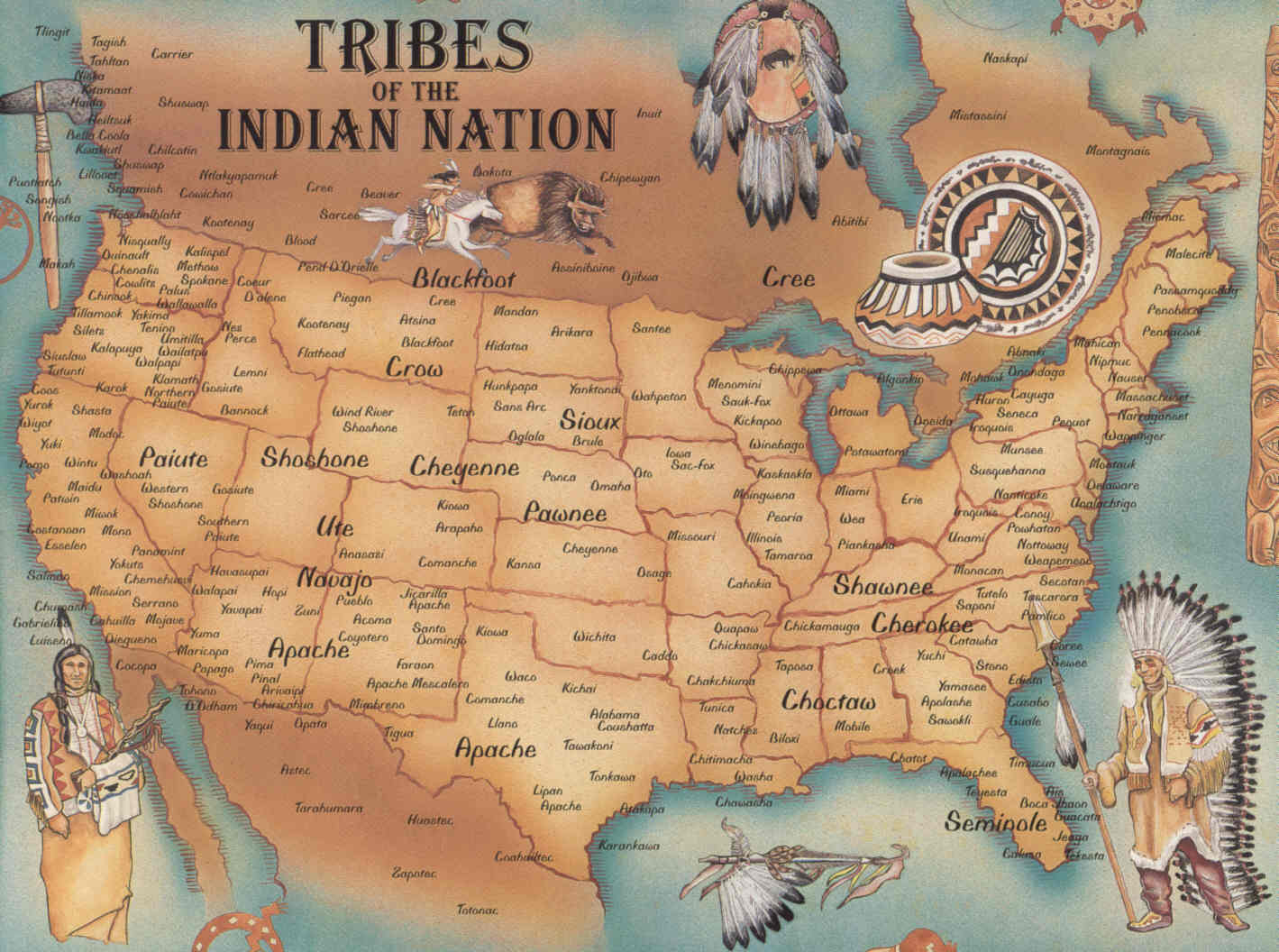 US Native American Map