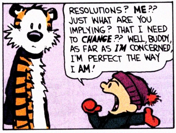 Calvin and Hobbes and new year's resolutions