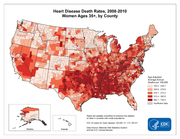 Where Women are dying from heart disease