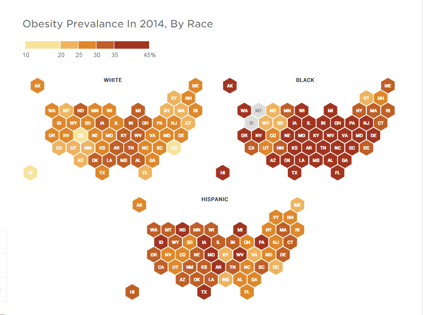 2014 Obesity, by race