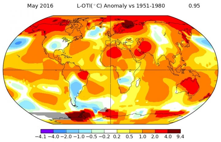 May 2016 Hottest Month Ever