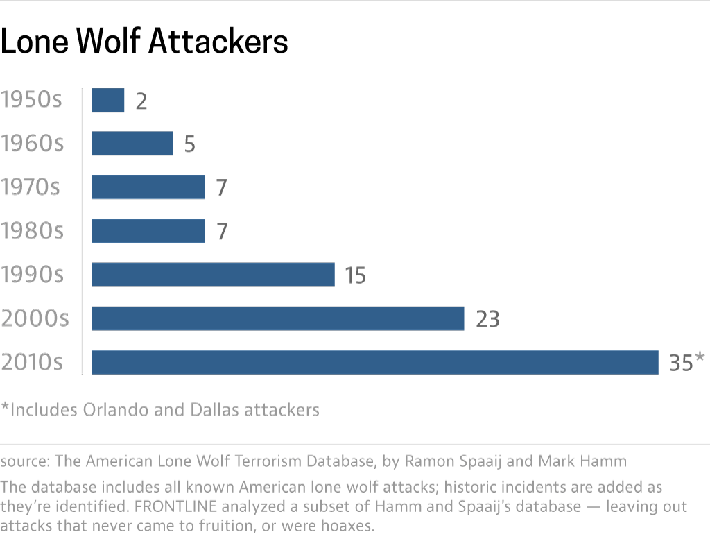 Lone wolf attacks rising