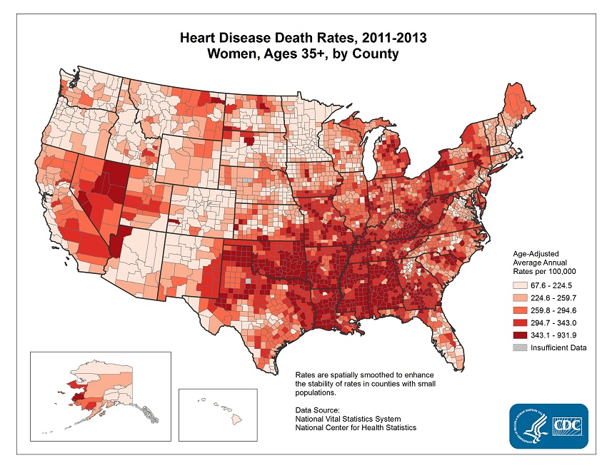 Female Heart Disease Deaths