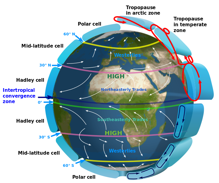 Global circulation patterns