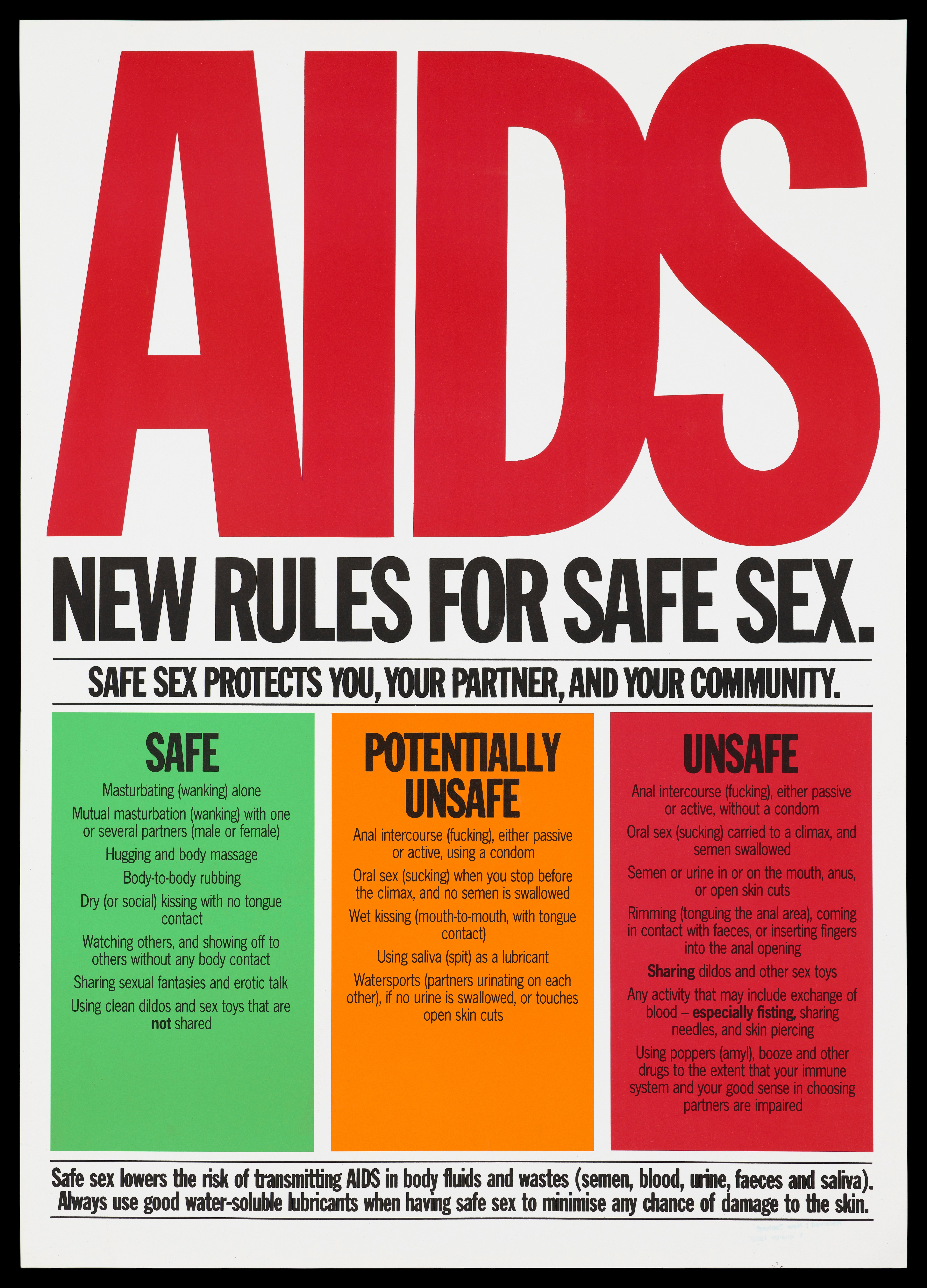 New Rules for Safe Sex