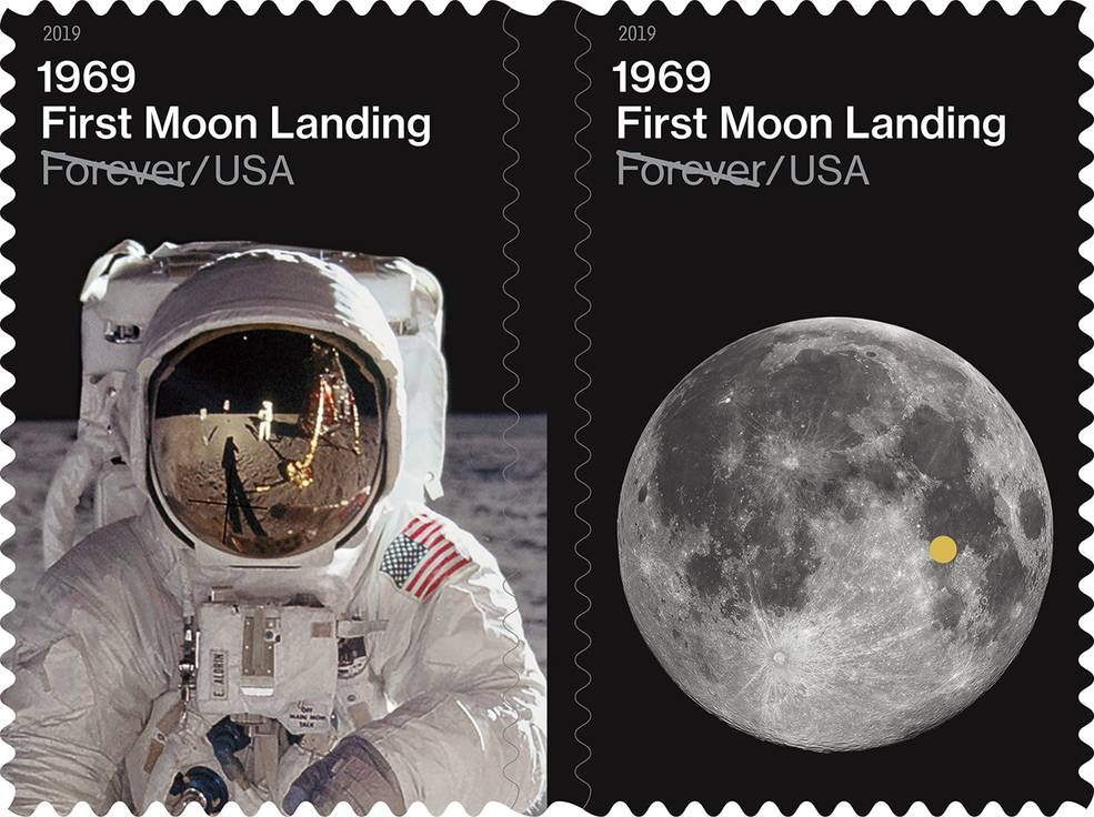 USPS Man on the Moon stamps