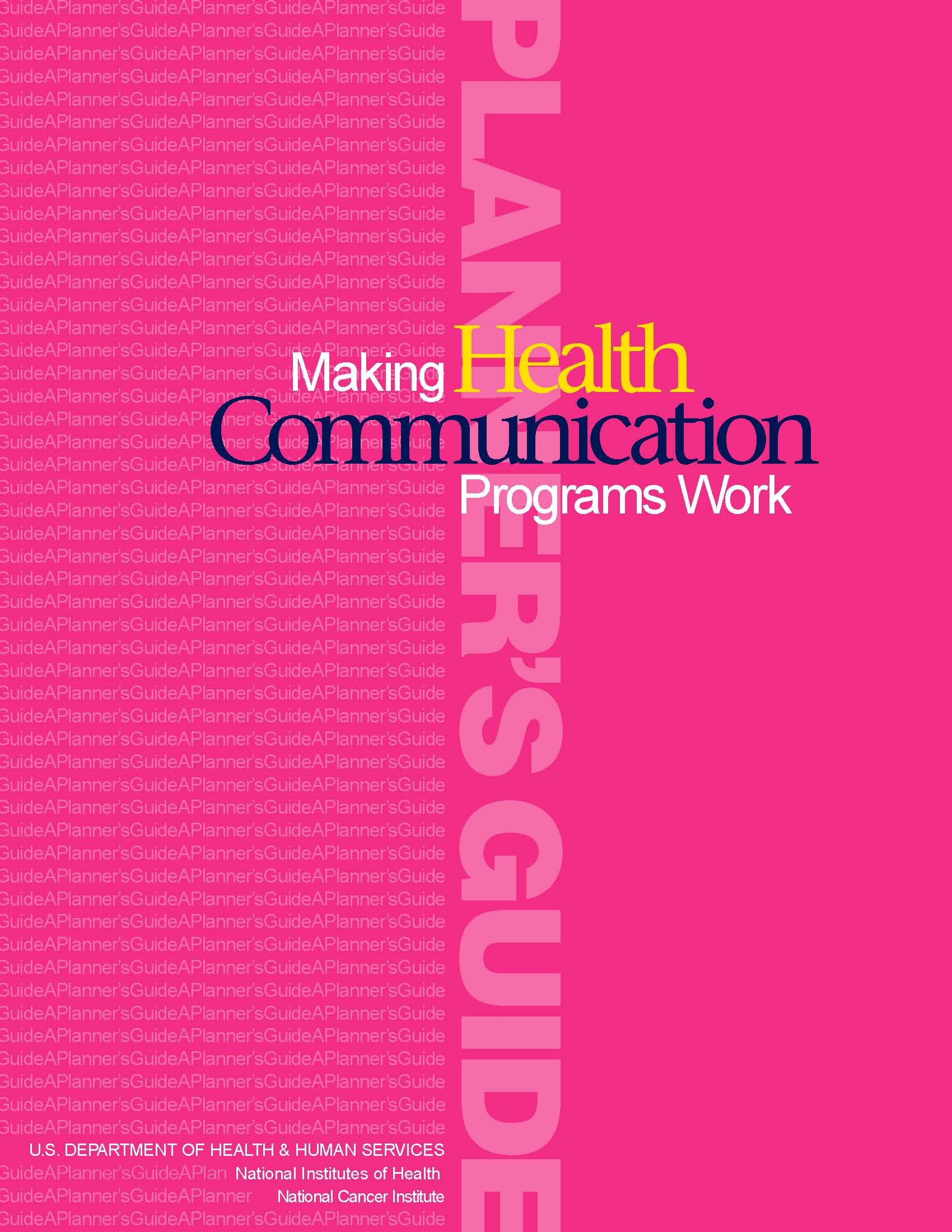 Making Health Communications Work