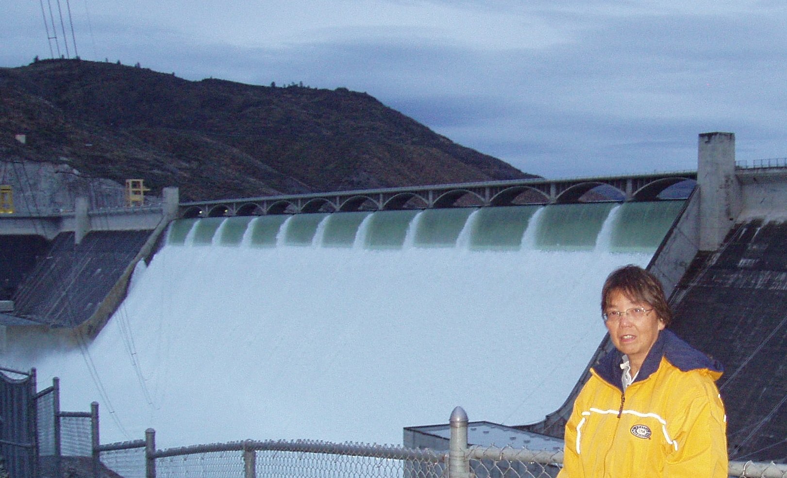 Betty at The Grand Coulee Dam